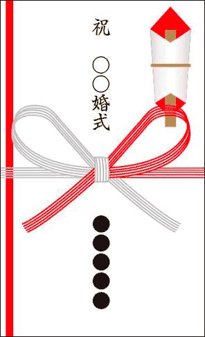 結婚記念日のお祝いの祝儀袋
