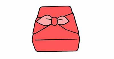 風呂敷の棹包み
