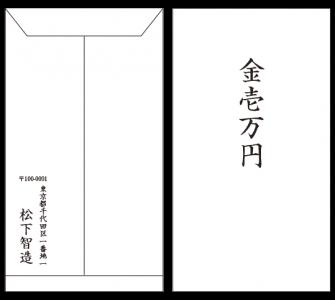 香典袋の中包みの書き方